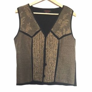 Simon Chang wool blend patchwork sweater vest 8